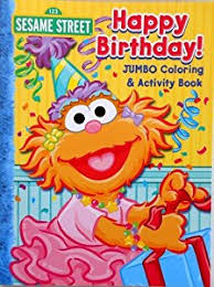 Sesame Street Coloring Book Happy Birthday