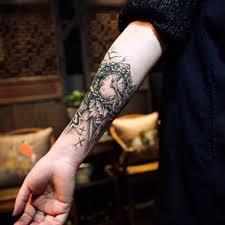 черные часы тату для мужчин временная большая механическая рука нога татуировка