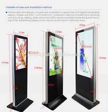 Free Standing Display Board 100100inch full HD floor standing led retail store display screen 93