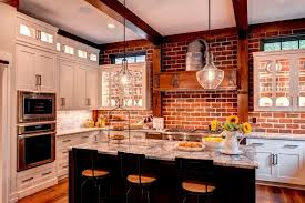brick backsplashes for kitchens the new way home decor the benefits to use brick kitchen backsplash