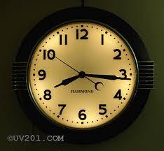 hammond illuminated wall clock