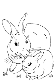 Christmas Rabbit Coloring Pages Printable Page For Kids Swifteus