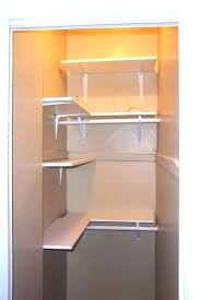 shelving painting home repairs the finished closet with custom cut melamine organizers white full size