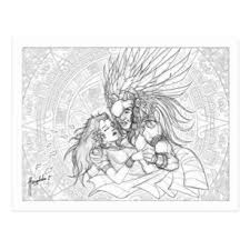 aztec warrior and princess black and white. Delighful White The Warrior And The Princess Postcard With Aztec And Black White A