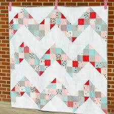 Free Charm Pack Quilt Patterns - U Create & Patchwork Chevron Quilt Tutorial by Jeni Baker Adamdwight.com