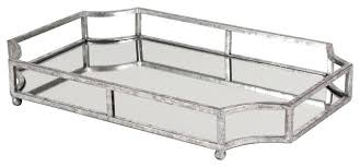 Decorative Metal Serving Trays Mirrored Serving Tray Modern Acrylic Serving Tray Silver Mirrored 97