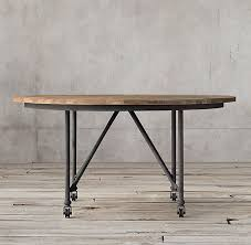 round office desk. flatiron round dining table restoration hardware office client desk