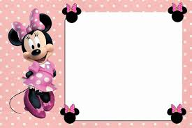 Minnie Mouse Blank Invitation Template Free Online Minnie Mouse Invitation Template Printable Templates P