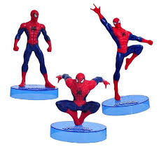Ultimate Spiderman Cake Topper Superhero 3 Figure Set Birthday