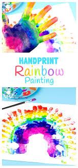 Gorgeous Handprint Rainbow Painting. Creative Painting IdeasPainting ...