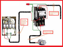 single phase motor contactor wiring diagram elec eng world w t can you run single phase on three phase at 3 Phase To Single Phase Wiring Diagram