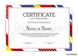 Modern Certificate Of Appreciation Award Template Template