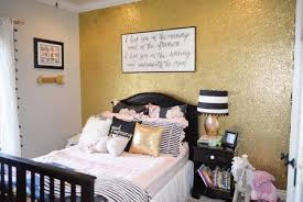 black white and gold s room with gold glitter accent little lovelies