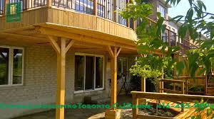 Level Cedar Deck With Walkout Basement YouTube - Walk out basement house
