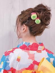 お団子アップ浴衣setsalon Nakayama所属中山 知彦のヘアカタログ