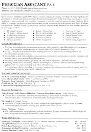 Physician Assistant Resume Examples Fascinating Physician Assistant Resume Doctor Format Best Photos Medical