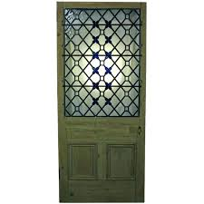 front door leaded glass inserts repair stained panels