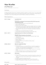 013 Template Ideas Social Media Intern Cv Examples Monaco Resume