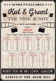 Vintage Cinema Poster Wedding Table Seating Plan In 2019