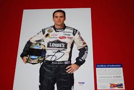 Lowes Psa Signed Jimmie Johnson Photo Lowes Sprint Series Psa Dna 8x10
