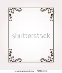 fancy frame border. Fancy Frame Border. Decorative Floral Ornament. Vector Illustration Border