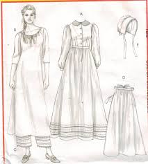 Mccalls Pattern Awesome McCalls Pattern 48 Early American Prarie Costume Size 48 through