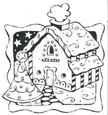 Gingerbread House Coloring Pages 24 Colors Of Pictures