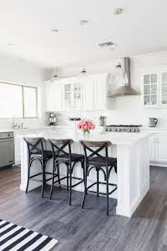 Charming White Cabinets Black Countertops Wood Floors Countertop