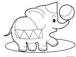 Coloring Pages Of Elephants With Free Baby Elephant Coloring Pages