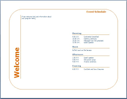 How To Create An Event Program Booklet Generic Event Program Template Formal Word Templates