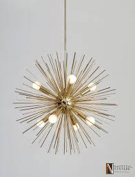 mid century modern lighting fixtures. 8 Lights Mid Century Modern Brass Sputnik Urchin Chandelier Light Fixture - 22\ Lighting Fixtures T
