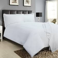 double stitch 500 threadcount duvet set white 070335 bailey cole 5397125037864
