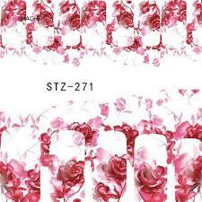 MAC-Fashion <b>Women Rose</b> Flower <b>Nail</b> Art Sticker 3D Water ...