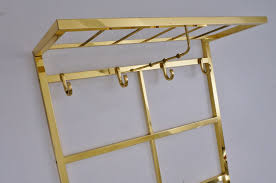 Brass Coat Rack Wall Mounted Brass Coat Rack Tjerk Reijenga For Pilastro 100`s Ca Dutch In 90