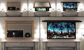 tv behind mirrors mirror hide my frames frame two way mirror tv diy