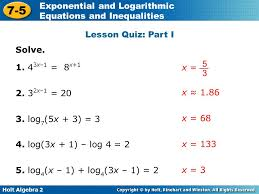 solving logarithmic equations algebraically jennarocca