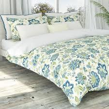 bella jacobean fl duvet cover set um blue