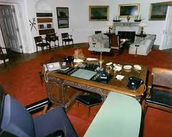 oval office. john f kennedy c 1963 oval office