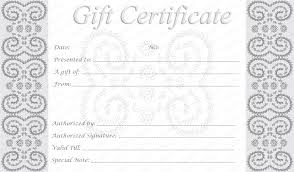 free blank gift certificate template gallery