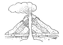 volcano coloring pages free pagesjpg on with page