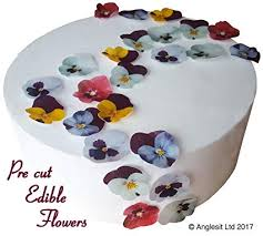Pre Cut Pansies Edible Rice Wafer Paper Pre Cut Flower Cupcake