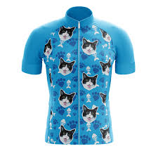 Blue Custom Cat Jersey Bicycle Booth