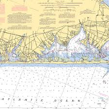 Shinnecock Bay Nautical Chart New York East Quoque Shinnecock Bay Nautical Chart Decor