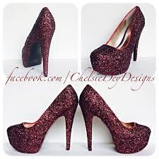 burgundy high heels dark red glitter heels maroon shoes Wedding Shoes Glitter Heel burgundy high heels dark red glitter heels maroon shoes sparkly wedding shoes wedding shoes sparkly heel