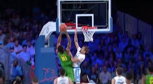 UNC's Cole Anthony swats dunk attempt ...