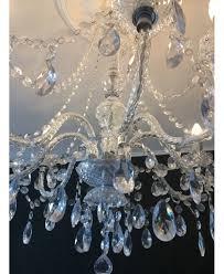 Kronleuchter 5 Fl Mit Kristallbehang Silber Led Kompatibel