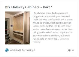 hallway finally. Hallway Finally. Diy Hallay Cabinets - Part 1 \\u2026 Finally