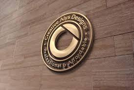 Logo Mock Up 3d Wall Logo Mockup Creative Alys