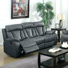 rooms to go leather recliner sectional gray