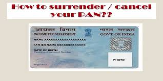 How To Surrender Your Pan Pan Cancellation Form Surrender Pan